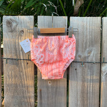 Load image into Gallery viewer, Peach nappy cover baby girl summer handmade broome