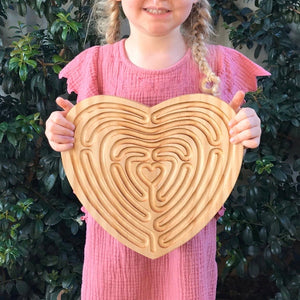 Large Heart Finger Labyrinth