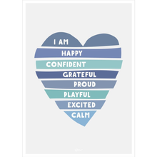 Load image into Gallery viewer, Heart Affirmations Poster Decal
