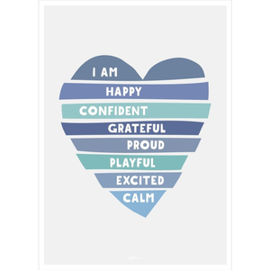 Heart Affirmations Poster Decal