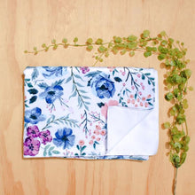Load image into Gallery viewer, Minky Floral Blanket