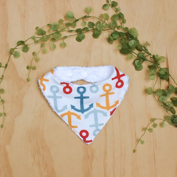 Anchors Baby Dribble Bib