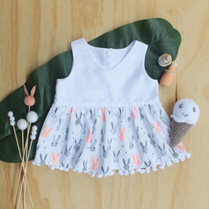 Easter Bunny Peplum Girls Top