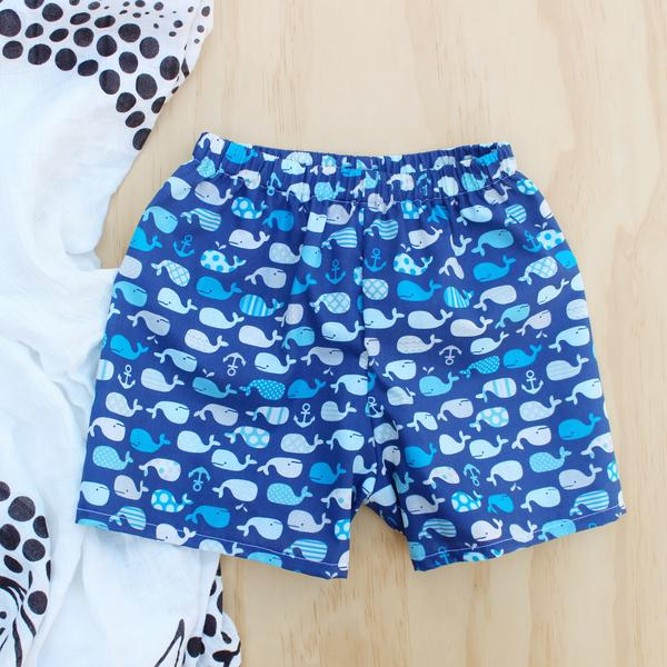 Whale Shorts -Size 000