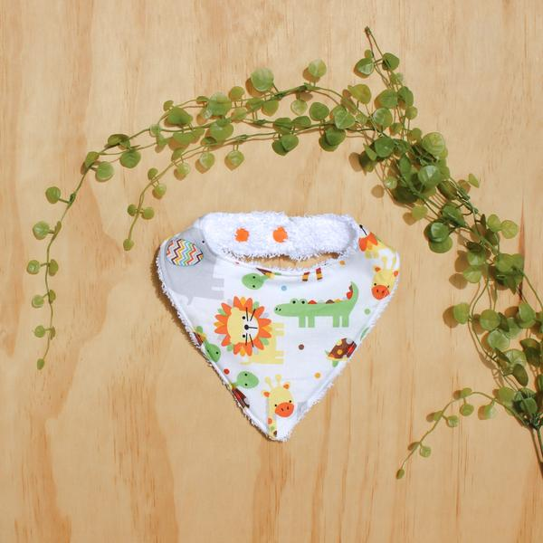 Jungle Neutral Gender Baby Bib Handmade Broome