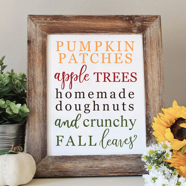 Fall Pumpkin Patches Printable