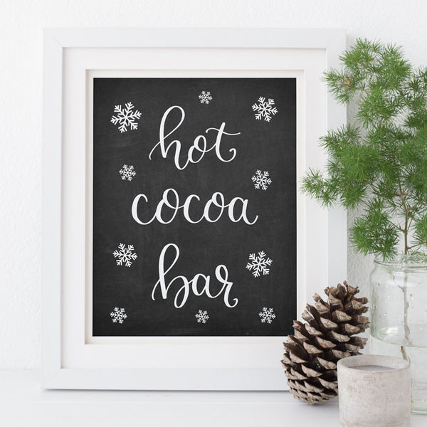 Chalkboard Hot Cocoa Bar Printable