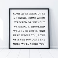 Irish Blessing Come At Evening or At Morning Poster Printable