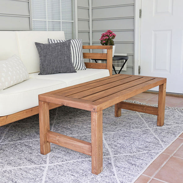 DIY Outdoor Coffee Table Build Plans