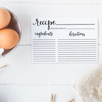"Editable 4"" x 6"" Recipe Card Printable"