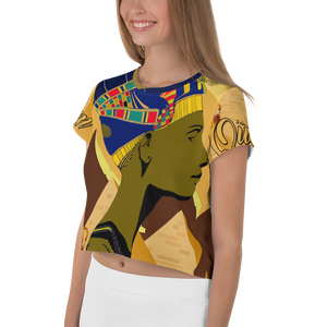 """Queen Nefertiti"" Women's Crop Tee"