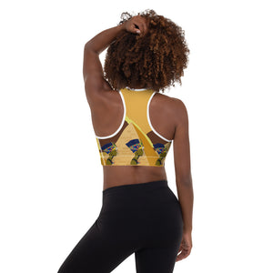 """Queen Nefertiti"" Padded Sports Bra"
