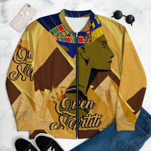 """Queen Nefertiti"" Unisex Bomber Jacket"