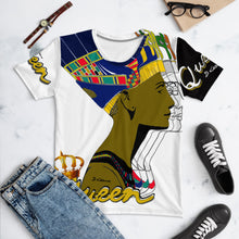 "Load image into Gallery viewer, ""Queen Nefertiti B&W"" Women's Crew Neck"
