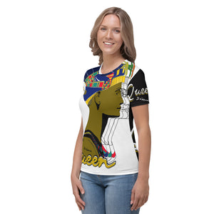 """Queen Nefertiti B&W"" Women's Crew Neck"
