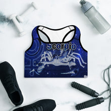 "Load image into Gallery viewer, ""Scorpio"" Padded Sports Bra"