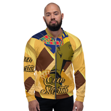 "Load image into Gallery viewer, ""Queen Nefertiti"" Unisex Bomber Jacket"