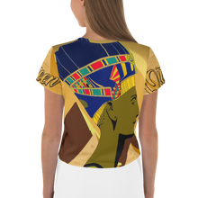 "Load image into Gallery viewer, ""Queen Nefertiti"" Women's Crop Tee"
