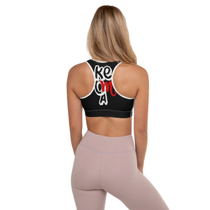 """Keoma"" Black Padded Sports Bra"
