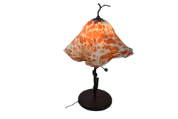 Orange Blown Glass Lamp