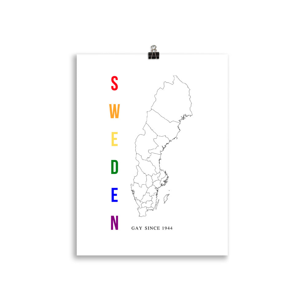 Sweden Gay Since 1944 Poster