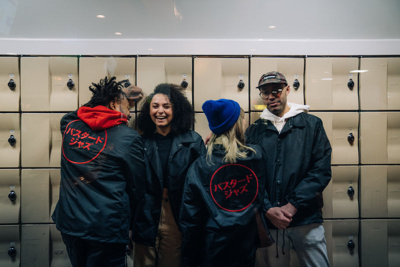 Bastard Jazz Embroidered Japanese Logo Coach Jackets