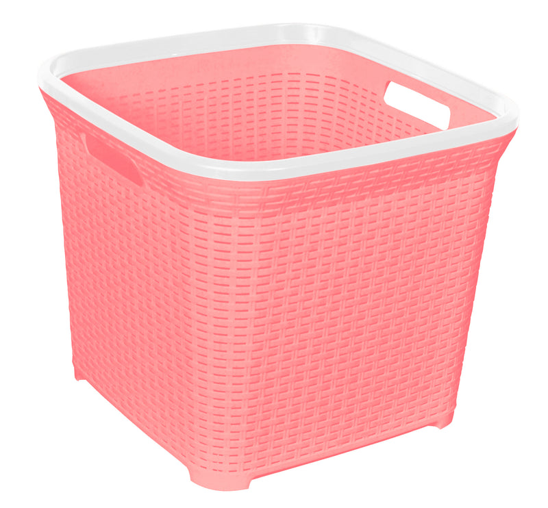Laundry Basket Rattan Square