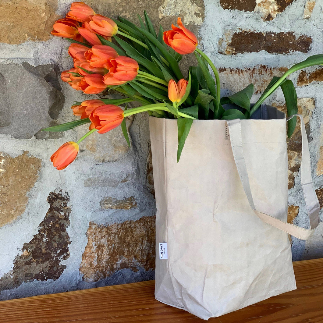 MARKET BAG- Reusable bag made from washable paper.