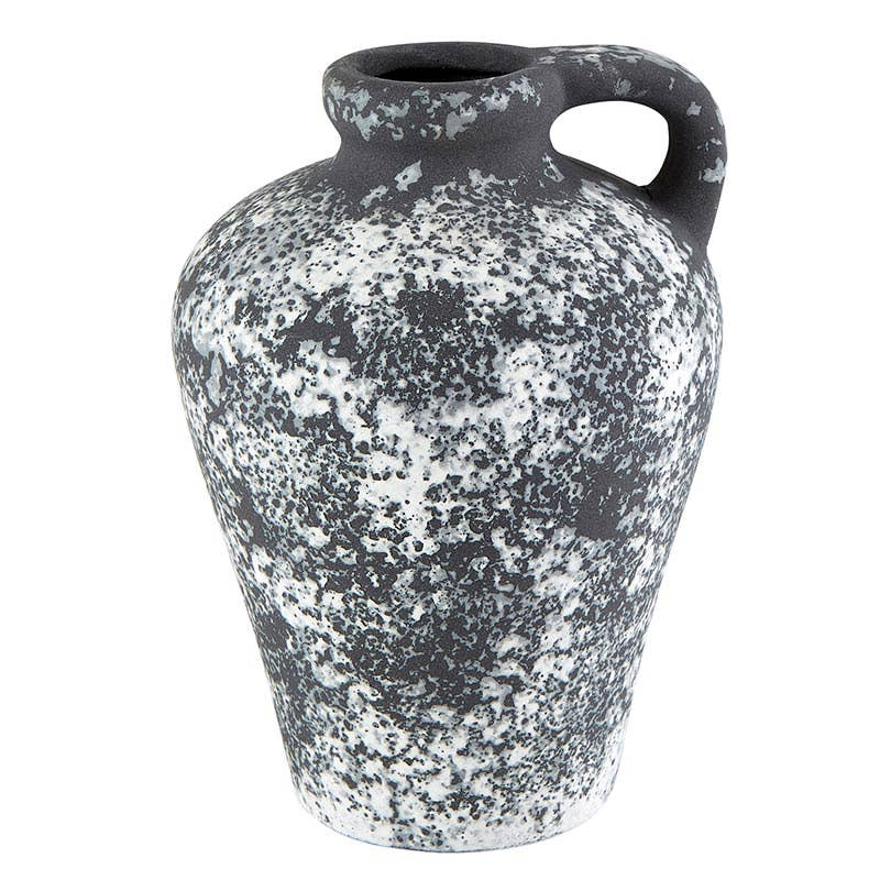 Handled Black Vase Lrg