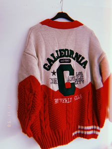 California Cardigan Rood