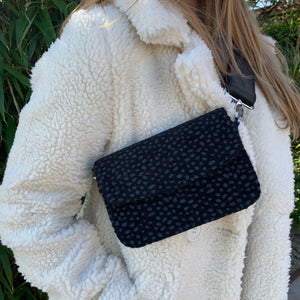 Cheetah bag zwart