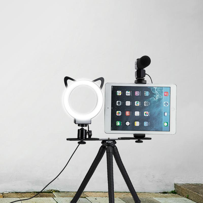 L1, Live equipment and Selfie, LED Ring Light, Table tripod, LM231 - FotoproOfficial