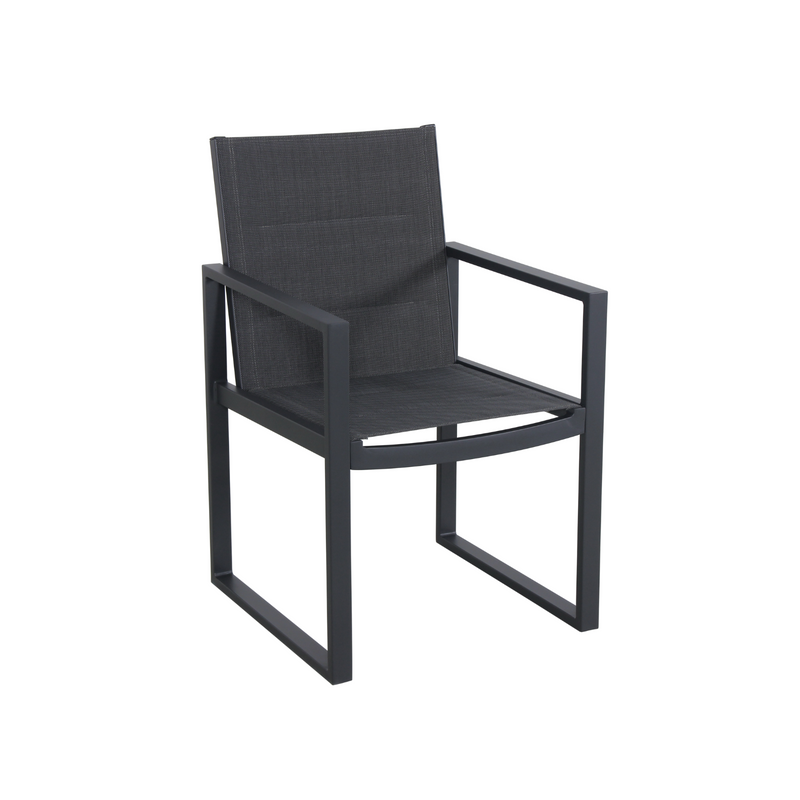 Aluminium - Costa Dining Chair - Charcoal