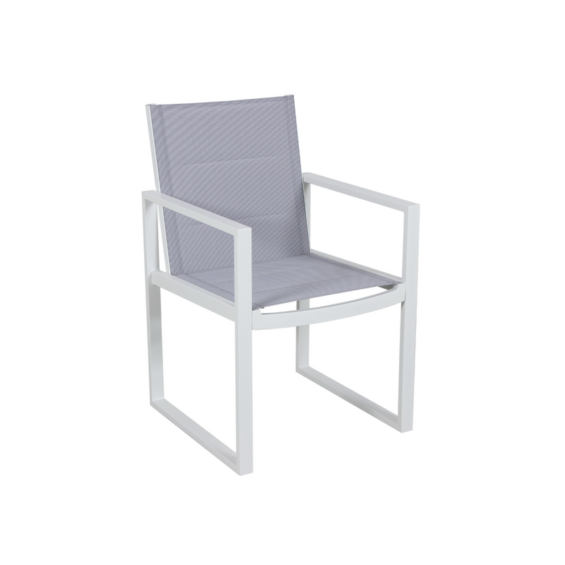 Aluminium - Costa Dining Chair - White