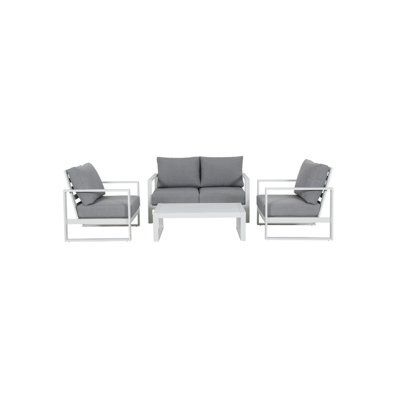 Aluminium - Costa Sofa Set - White
