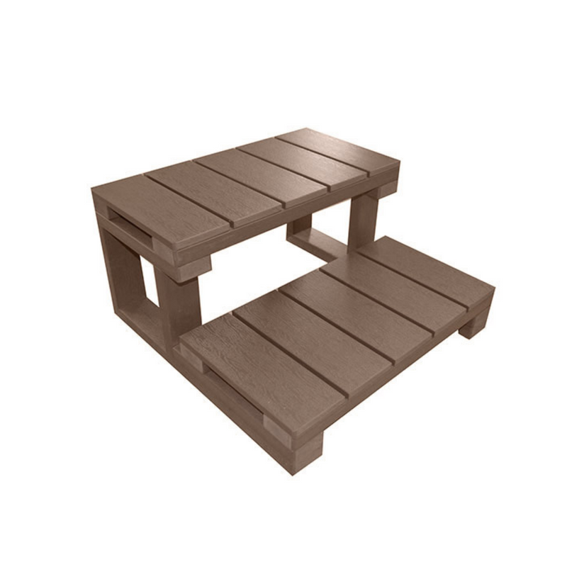 Galaxy Spas 2 Tier Spa Steps - Mocha