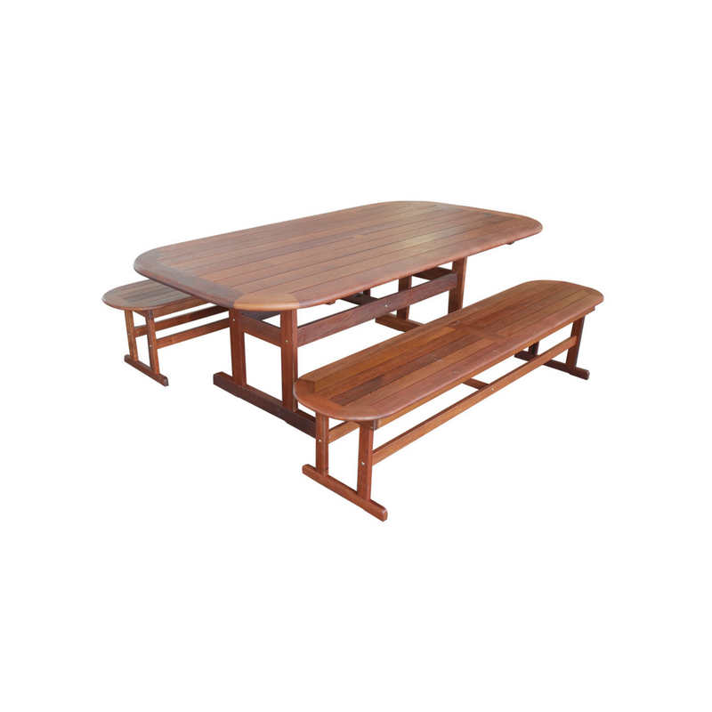 Kwila - 2.2m Bench Dining Set