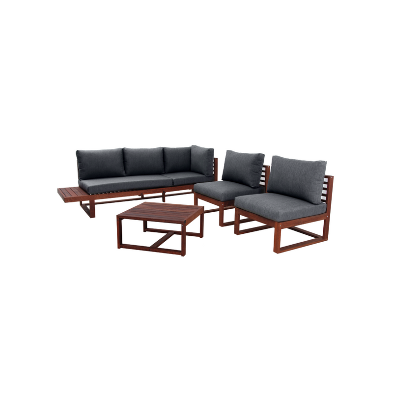 Kwila - Denver Wooden Corner Lounge Set