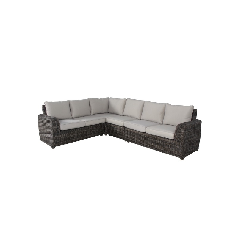 Wicker - Aruba Corner Sofa - Brown