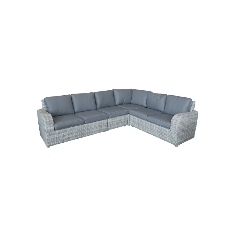 Wicker - Aruba Corner Sofa - Grey