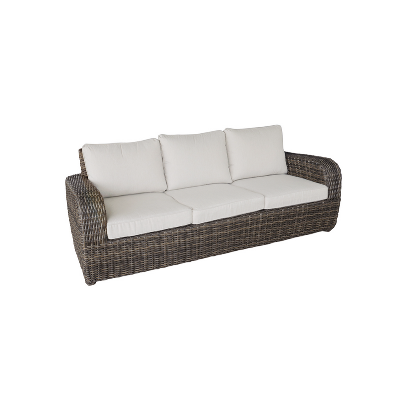Wicker - Boca 3 Seat Sofa - Brown