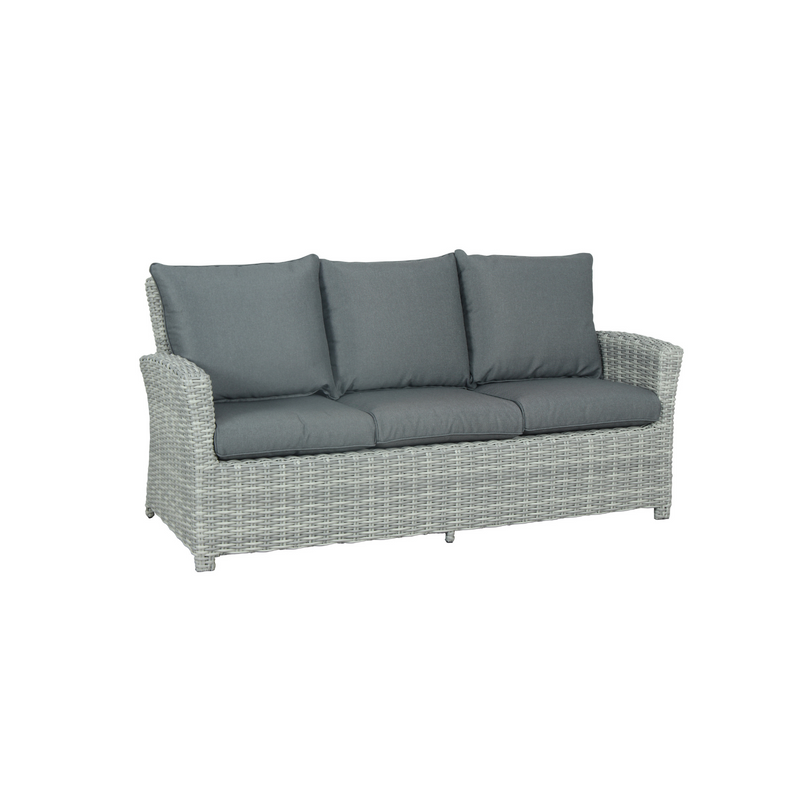 Wicker - Cancun 3 Seat Sofa - Grey
