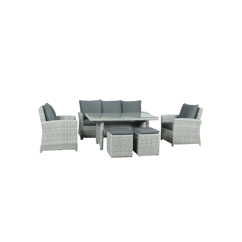 Wicker - Cancun Dining Set - Grey