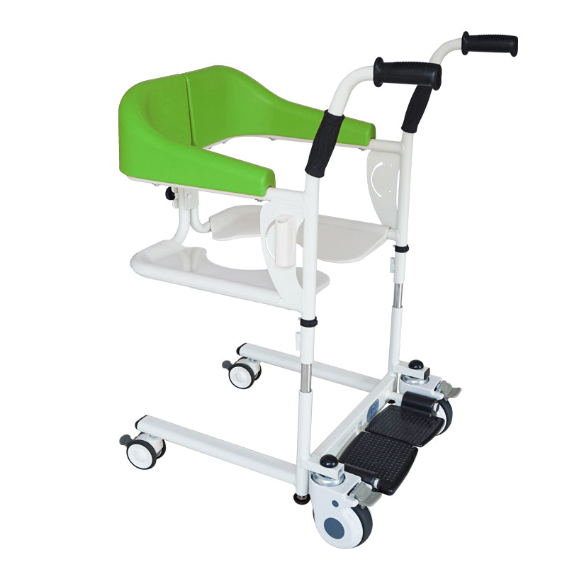 MKX Patient Transfer Chair MKX-YWJ-01A Ⅰ(Green) for The Disabled Transport Shower Chair