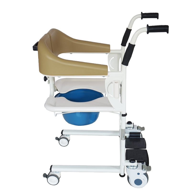 Transfer Chair MKX-YWJ-01A Ⅰ(Brown) for Caregiver Shifting The Disabled Position & Bath Easily and Quickly