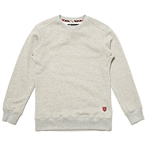 CREW SWEAT GREY MARL