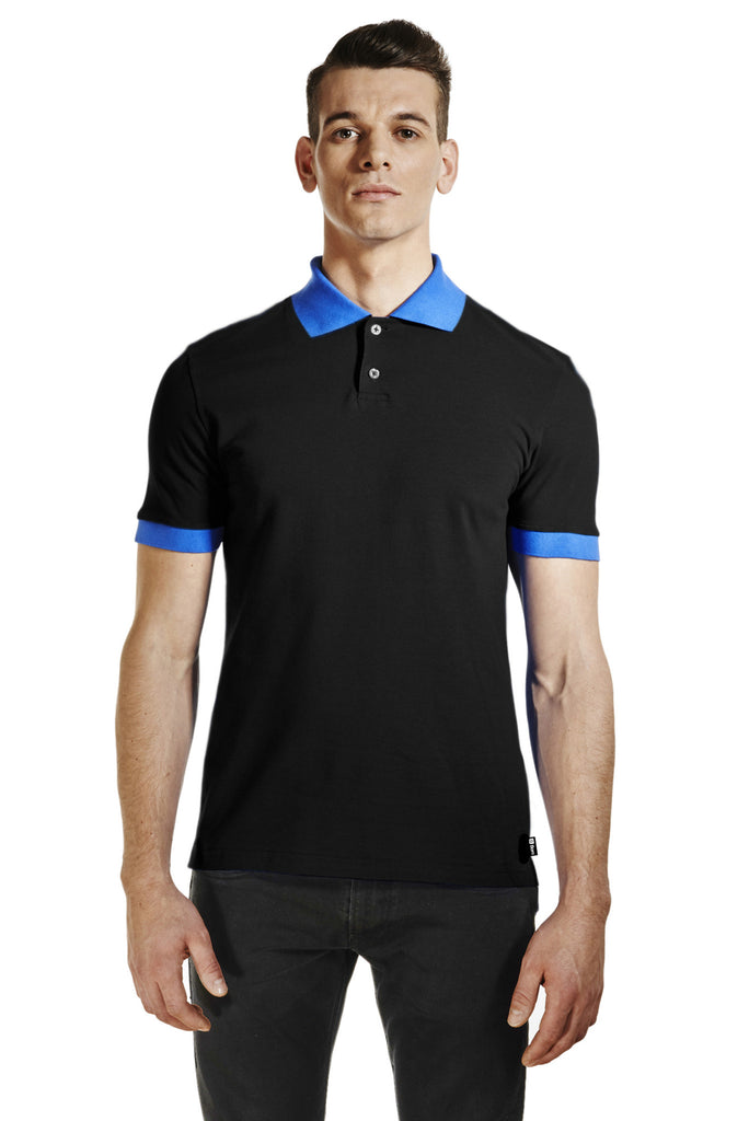 NEW POLO BLACK/BLUE