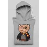 Honesteez LLC Hoodie S / Gray / Pullover Hoodie (As Shown) Harry Potter Themed Bear Unisex Graphic Hoodie