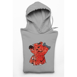Honesteez LLC Hoodie S / Gray / Pullover Hoodie (As Shown) Red Workout Bear Unisex Graphic Hoodie