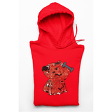 Honesteez LLC Hoodie S / Red / Pullover Hoodie (As Shown) Red Workout Bear Unisex Graphic Hoodie